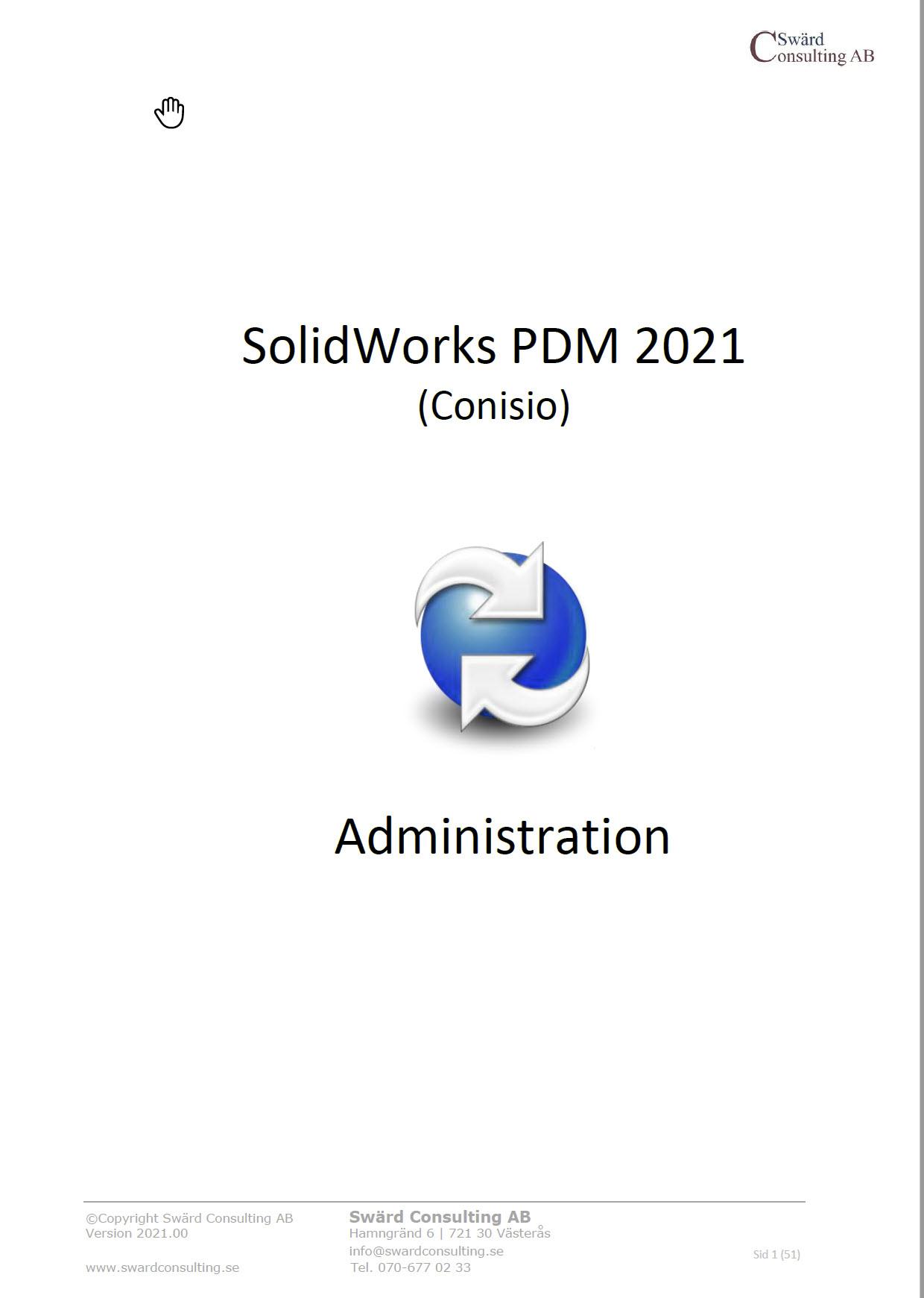 Svensk administrations manual SolidWorks PDM 2021