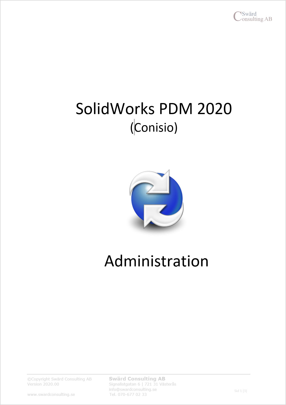 Svensk administrations manual SolidWorks PDM 2020